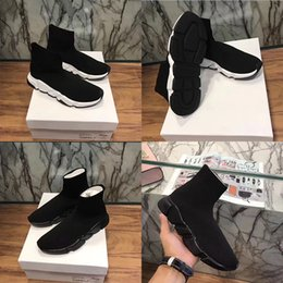 Wholesale Name Brand Women Boots - Name Brand High Quality Unisex Casual Shoes Flat Fashion Socks Boots Woman New Slip-on Elastic Cloth Speed Trainer Runner Man Shoes Outdoor