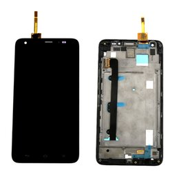 Wholesale Honor 3x - Wholesale-For Huawei Honor 3X G750 LCD Display touch Screen with digitizer assembly + Bezel frame replacement Free shipping , Black