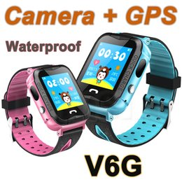 Wholesale Outdoor Gps Watches - IP67 Waterproof V6G Smart Watch GPS Tracker Monitor SOS Call with Camera Lighting Baby Swimming Smartwatch for Kids Child