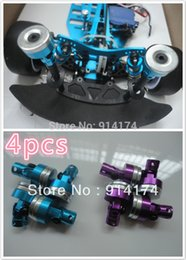 Wholesale Free Truck Parts - Wholesale-free shipping 1 10 RC Car accessories parts metal body shell column for 1:10 RC Drift car Monster Truck car 4pcs set