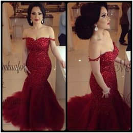 Wholesale Wine Red Elegant Evening Gown - Sexy 2016 African Elegant Wine Red Formal Mermaid Evening Dresses Backless Pageant Prom Gowns Shiny Sequins Slim Vestidos De Noiva