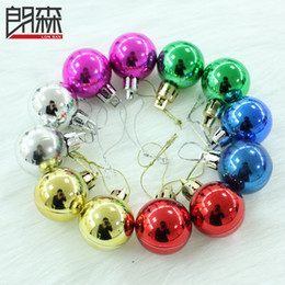 Wholesale Blue Baubles - NEW XMAS Tree Ornament Baubles Christmas Decoration 3CM Multi-colors Round Christmas Balls