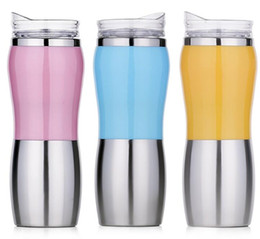 Wholesale Thermos Flask Large Capacity - High Quality 500ml Double Wall Stainless Steel Mugs Vacuum Flasks Large Capacity Outdoors Car Thermos Coffee Thermocup Termica Termos Bottle