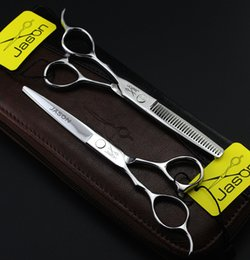 Wholesale Left Hand Scissors Japan - 317# Jason 6'' Left Hand Hair Cutting Scissors and hair Thinning Shears Kit with High Quality for Barbershop Home,Japan SS Free Shipping