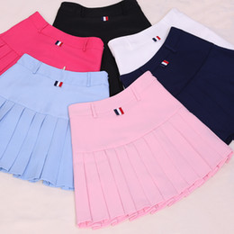 Wholesale Women S School Girl Skirt - Wholesale- 2017 high waist pleated skirts Kawaii Harajuku Skirts women girls lolita a-line sailor skirt Large Size Preppy school uniform