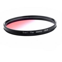 Wholesale Zomei Graduated Filter - ZOMEI Circle 77MM Graduated Red Color Filter Lens 77 mm for SLR Nikon Canon Camera Filter