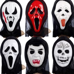 Wholesale Screaming Mask - Halloween Costumes masks halloween witch masks ghost mask Skull Skeleton halloween scream costumes skull ghost mask free shipping in stock
