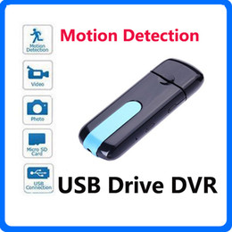 Wholesale Mini Dv Hd Dvr - Mini DV Camera HD U8 USB Flash Drive Camera DVR 3 in 1 Camera SPY Hidden USB Disk Camcorder With Motion Detection