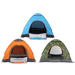 Wholesale Foldable Sunshade - Wholesale- Hot 3-4 Persons Camping Tent Beach Sunshade Waterproof Foldable Anti-UV Sun Shelter Automatic open Travel Hiking tents