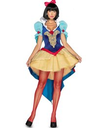 Wholesale Corset For Women Costume - Sexy Halloween Costumes For Womens Elegant Fairytale Snow White Adult Costume Outfits Velvet Corset Dress Petticoat Skirt 3 Pieces Set