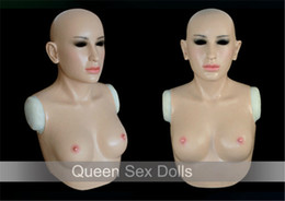 Wholesale Silicone Crossdresser Breast - Wholesale-SF-A2 Top quality realistic silicone masks crossdresser silicone breasts forms party masks free shipping