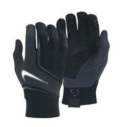 Wholesale Glove S - Wholesale-New Sports Football Gloves Luva Guantes de Football Luva Running Gloves Warm keeping 3 colors 3 sizes Free Shipping