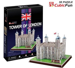 Wholesale London Model - Wholesale-Paper model,Children's DIY toy,Paper craft,Birthday gift,3D educational Puzzle Model,Card model,Tower of London