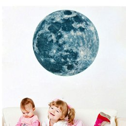 Wholesale Moulding Adhesive - 20cm Luminous Wall Sticker Waterproof PVC Super Bright Moon Paster Mould Proof Self Adhesive Mural New Arrival 12lf B