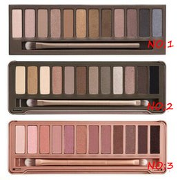 Wholesale Eyeshadow 12 Colors - Factory Direct smoky makeup NO:1 2 3 Palette 12 color eyeshadow Cosmetics