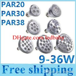 Wholesale Par38 Led 36w - CREE led bulbs E27 PAR20 PAR30 PAR38 LED Lamps 9-36W Dimmable Led spotlights Warm Pure Cool White 110-240V