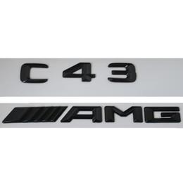 Canada Emblème d'insigne de coffre arrière de lettres du nombre 3D brillant noir pour Mercedes Benz C43 AMG Offre
