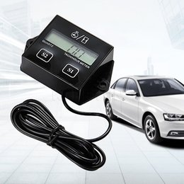 Wholesale Digital Tachometers For Cars - Wholesale-TA LCD Display Digital Tachometer RPM Tacho Gauge Hour Meter Spin For Car Motorcycle Truck Boat Jet Skis Dirt Bike