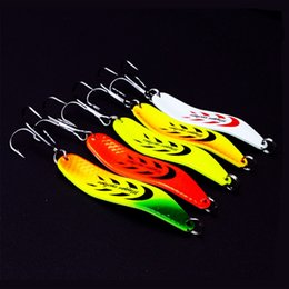 Wholesale Spinner Bait Hooks - New arrival Fishing Spoon Lures 6.5cm 13g 6#hooks spinner Hard Bait Spoons  metal Fishing Lure fly fishing 20pcs free shipping