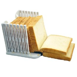 Wholesale Toast Bread Slicer - Free shipping Baking tools toast slicer bread cutter splitter toast Bread slicer Kitchen accessories