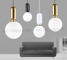 Wholesale Glass Ball Pendant Light Fixture - 2018 Newest Nordic Style Glass Ball Pendant Light Single-head Glass Chandelier Ball Ceiling Lamp Fixture Diameter 15cm 20cm 25cm MYY