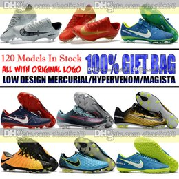 Wholesale Fg Mixes - Mens Low Ankle Football Boots Mercurial Vapor CR7 Superfly Neymar JR FG Soccer Shoes Magista Obra II Low Soccer Cleats Tiempo Indoor TF IC