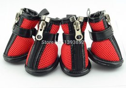 Wholesale Dog Summer Pet Mesh - dog air mesh shoes puppy boots pet breathable footwear zapato perros shih tzu chaussures sapatos hundeschuhe chien paw protector