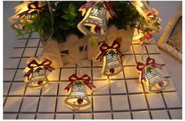 Wholesale Wholesale Christmas Decorative Boxes - 10pcs of one set lights Fashion Accessories Christmas led box lamp Bell Elk Festival Christmas Lights Decorative Fashion Accessories