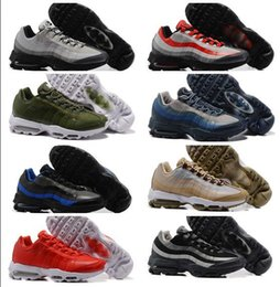 Wholesale Mid C - New air 95 Shoe Men Blue Trainer Tennis Run Running Shoes Man Mens Mid Brand Zapatillas Deportivas Sports Replicas Sneakers Size 7-12