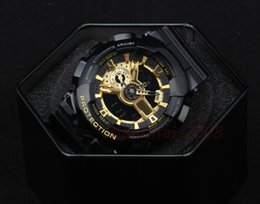 Wholesale Hot Mens Belts - AAA Hot Mens Sports Watch Auto light Waterproof Shock GA110 Watch All pointer Work Waterproof LED watches digital With Original box