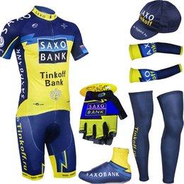 Wholesale Team Saxo Bank Shirt - Wholesale-Free Shipping 2015 saxo bank cycling jersey bike shorts set team 2015 thinkoff Cycling shirts Bicycle shorts suit