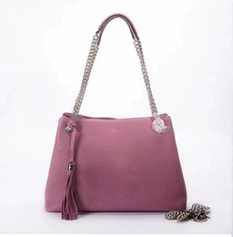 Wholesale Beige Bags Hobo - new genuine leather women tote hand Bag famous designer lady shoulder bag women chain hobo bag 308982