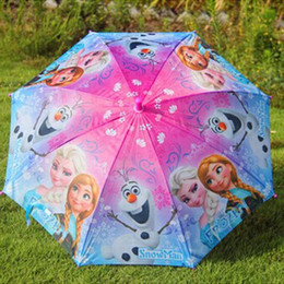Wholesale Colorful Cute Cartoon - Colorful Cute Cartoon Frozen Umbrella Rain and Sun Proof Frozen Princess Elsa & Anna Olaf Children Umbrella 68cm Frozen Series(1704017)