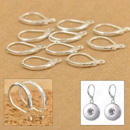 Wholesale Earrings Hooks Leverback - 200PCS Fine Jewellery Components Genuine 925 Sterling Silver Handmade Beadings Findings Earring Hooks Leverback Earwire Fittings
