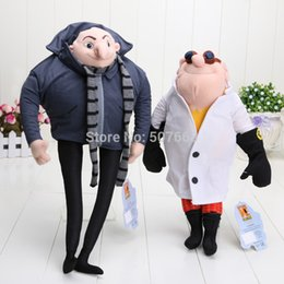 "Wholesale Despicable Gru - Wholesale-2Pcs Despicable Me Plush Toy 15"" Gru & 13"" Doctor Nefario Collectible Doll Rare"