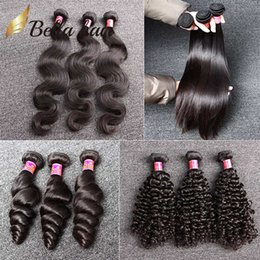 Wholesale Brazilian Curly Human Hair Weave - 7A Unprocessed Brazilian Hair Bundles Brazilian Virgin HairExtensions Human Hair Weave Natural Color Body Wave Straight Loose Wave Curly