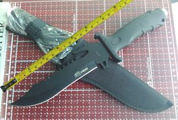Wholesale Stainless Steel Survival Knife Blade - New Sharp Survival Bowie Hunting Fixed Blade Knife A54