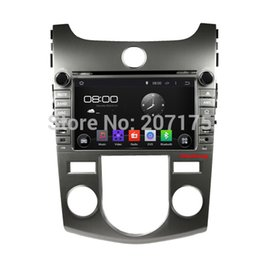 Wholesale Dvd Gps For Kia Forte - Android 4.4.4 Car DVD GPS for Kia Cerato Forte Koup Shuma Manual with Capacitive Screen,Raido,Optional(1024*600,3G,OBD,DVR)