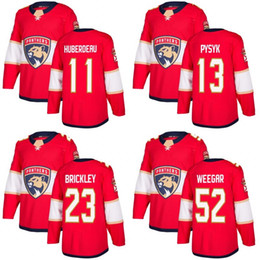 Wholesale M Mark - Customized Mens 2017-2018 Florida Panthers 11 Jonathan Huberdeau 13 Mark Pysyk 16 Aleksander Barkov 23 Connor Brickley Hockey Jerseys