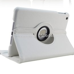 Wholesale Ipad Covers Rotations - Wholesale-360 Rotation PU Leather case for Apple iPad Mini 1 2 Smart cover flip cases with stand function for Pad Mini with Retina Fundas