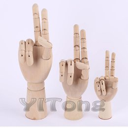 "Wholesale Folk Art Ship - Free Shipping 8"" 20CM Model Hand Fashion Design Wooden Human Hand Toy Flexible For Drawing Model Art Supplies"