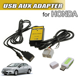 Wholesale Aux Adapter Civic - Brand New Car USB AUX Mp3 Adapter CD Changer For HONDA Accord for Civic CR-V Element for Odyssey order<$18no tracking