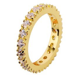 Wholesale Yellow Gold Jewellery Sets - Delicate Size6 7 8 9 Jewellery white sapphire lady's 10KT yellow Gold Filled Ring gift