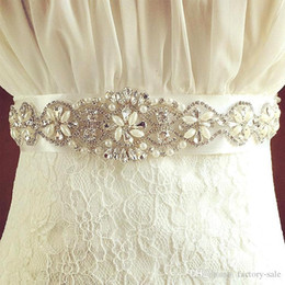 Wholesale Diamond Wedding Sash - Bridal Dresses Belt Wedding Gowns Sash Luxury Diamond Crystals Belt Sash Bridal Sash Belt Women Waistband Formal Wedding Dresses Belt CPA533