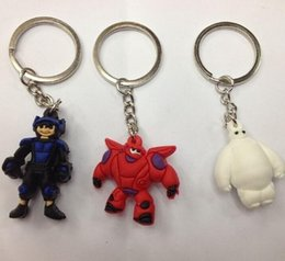 Wholesale Cheapest Wholesale Phone Accessories - 2015 Big Hero 6 Key Chains baymax Figure Toys Cartoon Movie Key Ring Pendants 3.5cm for Phone accessories 500PCS cheapest price