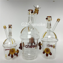 water bottle dab rig Promo Codes - Heady Cheech Glass Bong Water Pipe Honey Cup Two Tortoises Bubbler 3 Sizes Starbuck Cup dab oil rig Smoking Pipes Hookah Bongs bottle