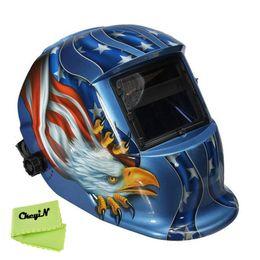 Wholesale Order Welding Helmet - Eagle Hawk Pattern Pro Solar Auto Darkening Welding Mask Tig Mag Grinding ARC Autodark Welding Helmet for Welder 0.25-DH003 order<$15 no tra