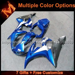 Wholesale Yamaha R6 Orange - 23colors+8Gifts BLUE motorcycle cowl for Yamaha YZF-R6 2003-2005 03 05 YZFR6 2003 2005 03-05 ABS Plastic Fairing