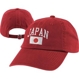 Wholesale National Team Caps - Wholesale- Team Japan Adjustable Hat the National Team Caps Mens Baseball Caps Brand Good Quality Caps for Wholesale