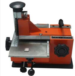 Etiqueta del equipo online-Máquina de marcado manual semiautomática JN-360, máquina de codificación de etiquetado de aluminio, impresora de etiquetas de parámetros del equipo (placa de fuente de 3 mm)